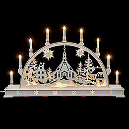 Candle Arch  -  Seiffen Church with Base  -  78x45cm / 31x18 inch