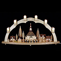 Candle Arch  -  Seiffen Church with Village  -  31x16 inch  -  80x41cm / 16.1 inch