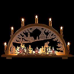 Candle Arch  -  Winter Children  -  66x41cm / 26x16.1 inch