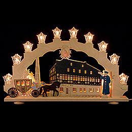 "Candle Arch  -  ""Zwoenitz""  -  LED  -  66x41x6cm / 26x16x2.4 inch"