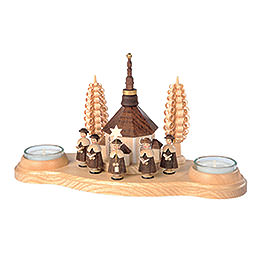 Candle Holder  -  Seiffen Church  -  11cm / 4 inch