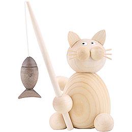 Cat Moritz with Fish  -  8cm / 3.1 inch