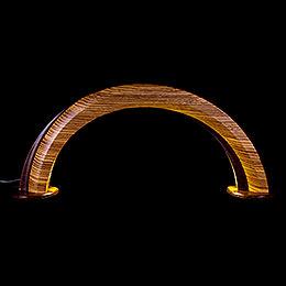 Design Wooden Arch Zebrano/Wenge  -  55x22,5cm / 21.6x8.9 inch