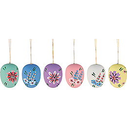 Easter Ornament  -  Easter Egg Semigloss  -  6 pieces  -  4cm / 1.6 inch