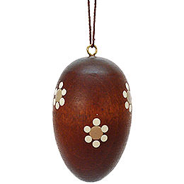 Easter Ornament  -  Egg Natural Dark  -  3cm / 1.2 inch
