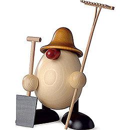Egghead Benno, Gardener, Brown  -  11cm / 4.3 inch