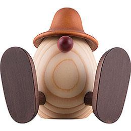Egghead Erwin Sitting, Brown  -  11cm / 4.3 inch
