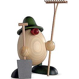 Eierkopf Benno, Gärtner, grün  -  11cm