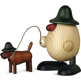 Eierkopf Rudi mit Waldi, grün  -  11cm