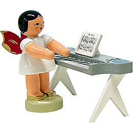 Engel am Keyboard  -  Rote Flügel  -  stehend  -  6cm