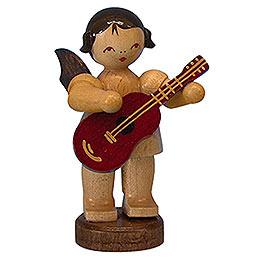 Engel mit Gitarre  -  natur  -  stehend  -  6cm