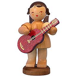 Engel mit Gitarre  -  natur  -  stehend  -  9,5cm