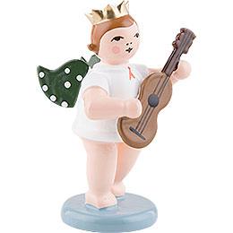 Engel mit Krone und Gitarre  -  6,5cm