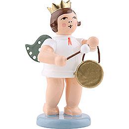 Engel mit Krone und Gong  -  6,5cm