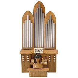 Engel mit Orgel  -  natur  -  stehend  -  6cm