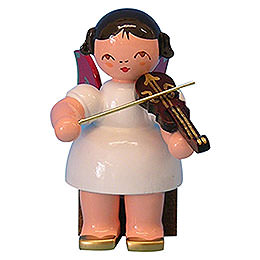 Engel mit Violine  -  Rote Flügel  -  sitzend  -  5cm