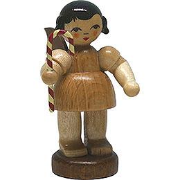 Engel mit Zuckerstange  -  natur  -  stehend  -  6cm