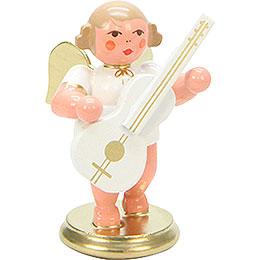 Engel weiß/gold mit Gitarre  -  6,0cm