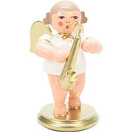 Engel weiß/gold mit Saxophon  -  6,0cm