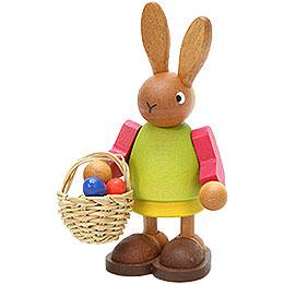Female Bunny with Egg - Basket  -  8,5cm / 3.3 inch