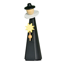 Figurine Caroler with star  -  11cm / 4.3 inch