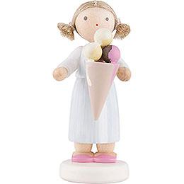 Flachshaarkinder Großes Mädchen mit Eistüte  -  5cm