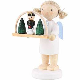 Flax Haired Angel with Candle Arch  -  5cm / 2 inch