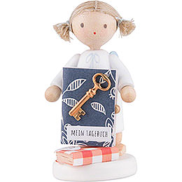 Flax Haired Angel with Diary  -  5cm / 2 inch