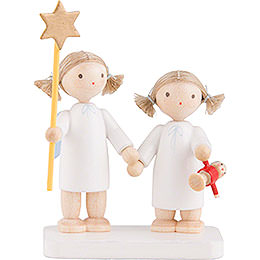 "Flax Haired Angels ""Siblings""  -  5cm / 2 inch"