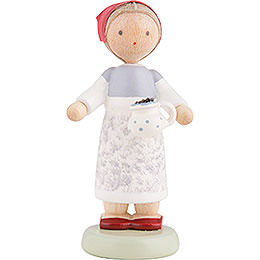 Flax Haired Children Berry Collector  -  5cm / 2 inch