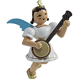 Floating Angel Colored, Banjo  -  6,6cm / 2.6 inch