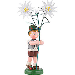 Flower Child Boy with Precious White Flowers  -  24cm / 9,5 inch