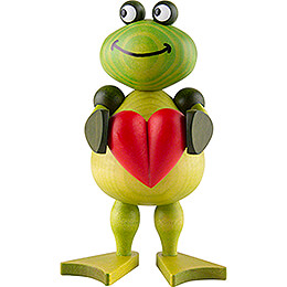 Frog Freddy with Heart  -  11cm / 4.3 inch