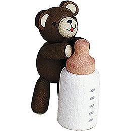 Glücksbärchen mit Milchflasche  -  3,5cm
