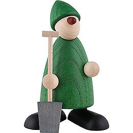 Gratulant Hans mit Spaten, grün  -  9cm