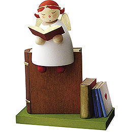 Guardian Angel Reading, on Book  -  3,5cm / 1.3 inch