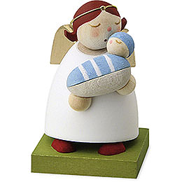Guardian Angel with Baby  -  Boy  -  3,5cm / 1.3 inch
