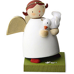 Guardian Angel with Bird  -  3,5cm / 1.3 inch