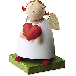 Guardian Angel with Heart  -  3,5cm / 1.3 inch