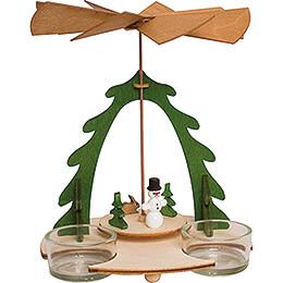 Handicraft Set  -  1 - Tier Pyramid  -  Snowman  -  18cm / 7.1 inch