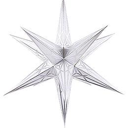 Hartensteiner Weihnachtsstern für Innen  -  weiß mit silber  -  68cm