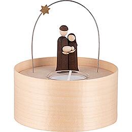 Heilige Familie Teelichtset natur  -  11cm