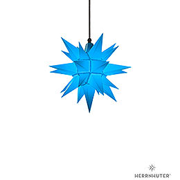 Herrnhuter Moravian Star A4 Blue Plastic  -  40cm/16 inch