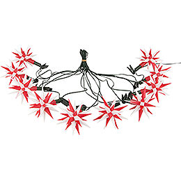 Herrnhuter Moravian Star Chain A1s White/Red Plastic  -  12m/13yard