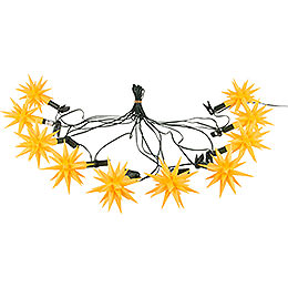 Herrnhuter Moravian Star LED Chain A1s Yellow Plastic  -  14m/15yard