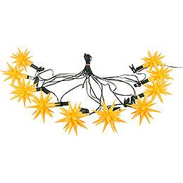 Herrnhuter Moravian Star LED Chain A1s Yellow Plastic  -  14m/15yard
