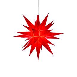 Herrnhuter Stern A1e rot Kunststoff  -  13cm