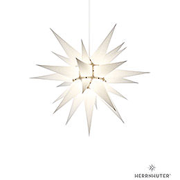 Herrnhuter Stern I6 weiss Papier  -  60cm
