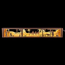 "Illuminated Stand ""Bethlehem""  -  67x10cm / 26x4 inch"