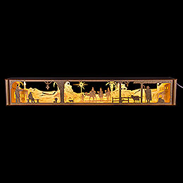 Illuminated Stand for Candle Arch  - , LED 12V, Bethlehem  -  67x10cm / 26x4 inch